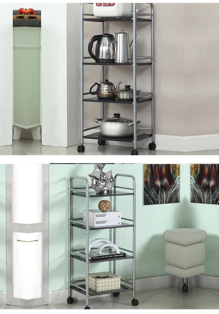 4 Layer Metal Mesh Multifunctional Storage Shelving Rack